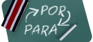 using por and para in Spanish