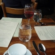 A restaurant table setting in NYC. Corporate spanish lessons